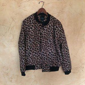Cheetah Forever 21 puffer jacket
